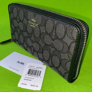 Coach Signature Accordion style Wallet